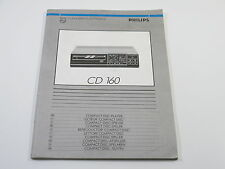 Philips CD 160 Bedienungsanleitung / Operator´s Manual / Notice d ´Instructions
