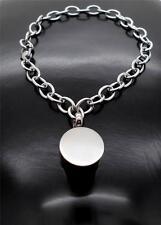 316L S/Steel Link Chain Round Keepsake Cremation Urn Memorial Bracelet Jewellery