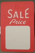 100 All Purpose White/Red Unstrung Sale Price Clothing Label Tags