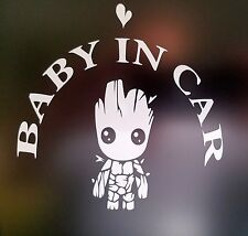 """Baby In Car"" Waving Baby on Board Safety Sign Car Decal / Sticker/ Groot"