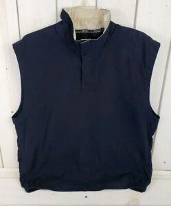 SUNICE Mens Blue Quarter Snap Up Pullover Golf Windbreaker Size M Medium