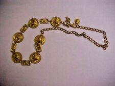 Motion East VTG gold tone LION HEAD metal BELT    Length 41