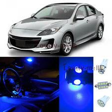 Deluxe Blue Lights Car Bulb Interior LED Package Kit For Mazda 3 2010-2013