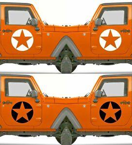 Set of 2 America US U.S Army Distressed Star Vinyl Decal Sticker Dodge & Ram V11