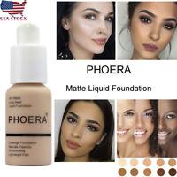 Women 30ml PHOERA Matte Oil Control Concealer Liquid Foundation Beauty Portable