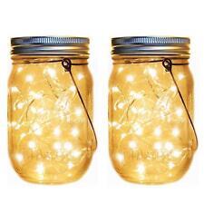Solar Lanterns, Outdoor Hanging Mason Jar Lights, Solar Lantern String Lights