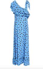 Brand New Ganni Roseburg One Shoulder Floral Print Maxi Dress FR 34 Approx UK 6