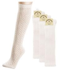 Trachtensocken Trachten Socken Strümpfe Damen Häkellook Hochzeit  Natur 35/38