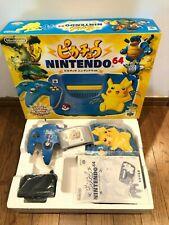 ★ Nintendo 64 Console Pokemon Pikachu Blue Very Good Condition Serial Matching ★