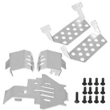 5 Pcs Stainless Steel Chassis Armor Skid Plate Hollow Version for Traxxas TRX-4