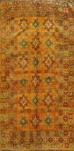 Vintage Geometric Authentic Moroccan Oriental Area Rug Wool Tribal Handmade 6x12