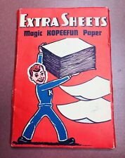 Vintage 1941 Magic Kopeefun Paper Extra Sheets Embree Manufacturing Co Usa Vhtf