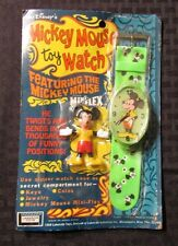 1968 Disney MICKEY MOUSE Toy Watch & Figure MOC MINT Lakeside #8648 Green Band