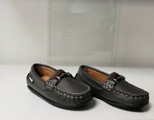 NIB NEW Venettini Toby baby boys gray leather loafers shoes buckle 21 US 5