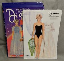 1995 DRESSING PRINCESS DIANA PAPER DOLL SET - LARGE LOVELY & UNCUT