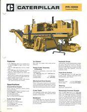 Equipment Brochure - Caterpillar - PR-1000 - Pavement Profiler - c1984 (E4484)