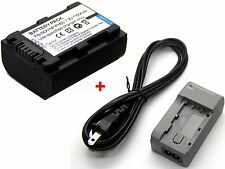 NP-FH40 Battery & Charger for NP-FH50 Sony HDR-UX3 HDR-UX5 HDR-UX7 HDR-UX9