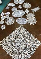 Lot 21 Vintage Hand Crochet Doilies Wedding Tea Party