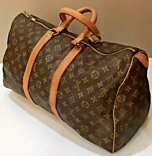 Louis Vuitton Keepall 45 Monogram Canvas Boston Bag Mens Womens Travel Flight