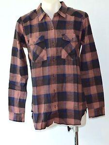 RVCA Ladies Long sleeve shirts - CHECK - SIZES - S, M, L & XL - NEW
