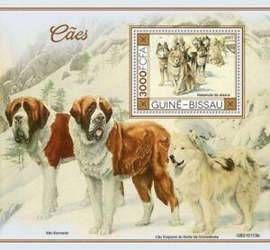 Guinea-Bissau - 2021 Dogs, Alaskan Malamute - Stamp Souvenir Sheet - GB210113b