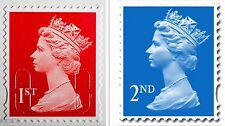 50, 100, 200, 250, 500 ,5000 1ST & 2ND CLASS UNFRANKED STAMPS, OFF PAPER ,NO GUM