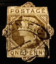 More details for qv gb britain postal stationery old shabby cut out card stamp victoria 01100721
