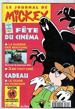 LE JOURNAL DE MICKEY n°2244 ¤ 1995 ¤ + CADEAU 2 MINI-FICHES TINTIN POULAIN
