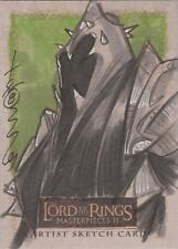 """Lord of the Rings Masterpieces II - Tom Hodges """"Ringwraith"""" Sketch Card"""