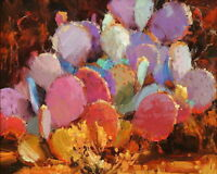 Art Canvas Print Western Cactus Oil painting Picture Printed on canvas P389