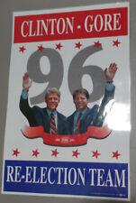 1996 Bill Clinton Al Gore Jugate Presidential Re-Election Campaign Poster