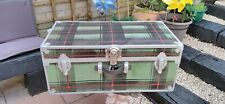 Vintage Steamer Trunk Chest Coffee Table Storage Box