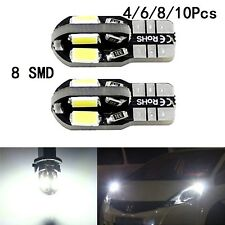 T10 CAR BULBS LED ERROR FREE CANBUS 8 SMD XENON WHITE W5W 501 SIDE LIGHT BULB UK