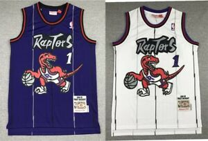 1# Tracy McGrady Toronto Raptors Throwback Swingman Jersey Purple & White NEW