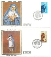 Canada SC # 885-886 Canadian Saints FDC. Colorano Cachet.