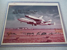 NASA 747 Autographed Flight Crew on Vintage Red # Photo