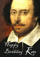 William Shakespeare PERSONALISED Happy Birthday Greeting Card Hamlet Macbeth