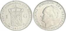 Niederlande 1 Gulden 1924, Silber Wilhelmina vz-st,seltene Erhaltung