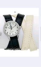 NIB Premier Designs Jewelry Time To Wrap black white leather pearl wristwatch