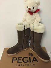 Pegia Tall Boot With Buckle And Lace Up Back for Women, US 8, Vizon Yarma