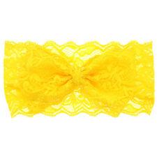 Yellow BB Hairwear Gauze Lace Mesh Bowknot Hair Band Hairpin Lovely Headdress