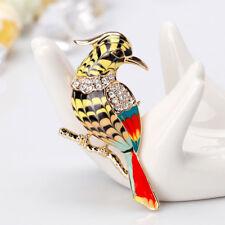 Delicate Rhinestone Bird Animal Enamel Brooch Lapel Pin Women Jewelry Gifts