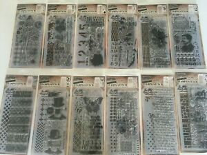 Tim Holtz Stampers Anonymous Rubber Cling Stamp Set YOU PICK NEW