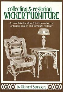 Antique American Wicker Furniture - Types Makers - Repair Restore / Scarce Book