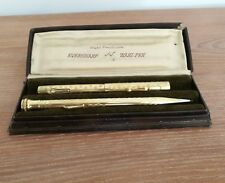 Vintage WAHL EVERSHARP Gold Filled Fountain Pen & Propelling Pencil Set, Boxed