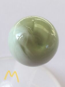 Vintage Small Marble Green White Cloud M
