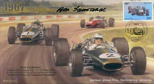 1967b BRABHAM-REPCO BT24s FERRARI NURBURGRING F1 cover signed RON TAURANAC