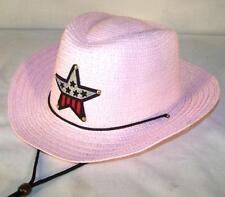 KIDS PINK COLOR COWBOY HAT W USA STAR child headwear childrens BOY cowgirl  GIRL bc2d0ae21a94