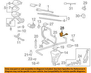 Wiper Washer-Windshield-Nozzle Spray Jet Left 2088601247