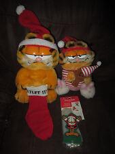 Vintage 1981 Dakin CHRISTMAS Garfield the Cat POOKY BEAR Stuff IT POP UP LOT 3